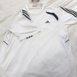 Adidas dry fit white short sleeve